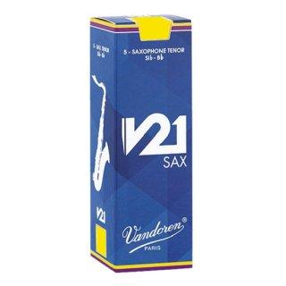 Vandoren(バンドレン) テナーサクソフォン用リード V21(5枚入)【強度をお選びください】