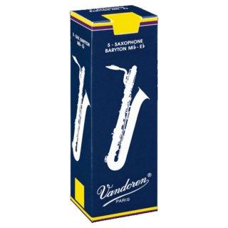 Vandoren(バンドレン) バリトンサクソフォン用リード トラディショナル(5枚入)【強度をお選びください】