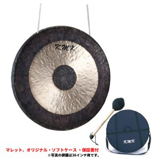 K.M.K (ケーエムケー) 銅鑼(タムタム) 28インチ KG-28 【マレット・ソフトケース・保証書付き】