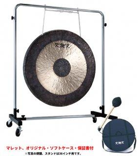 K.M.K (ケーエムケー) 銅鑼 (タムタム) 34インチ スタンド付きセットKG-34+KK-GSR36 【マレット・ソフトケース・保証書付き】