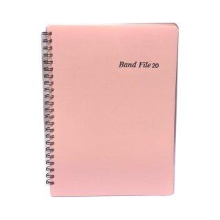 BandFile(バンドファイル) 20ポケット (楽譜40ページ分) ピンク