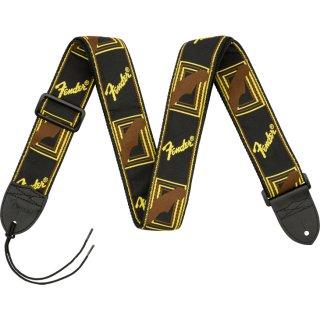 "Fender (フェンダー) ストラップ 2"" MONOGRAMMED STRAPS カラー:Black/Yellow/Brown"