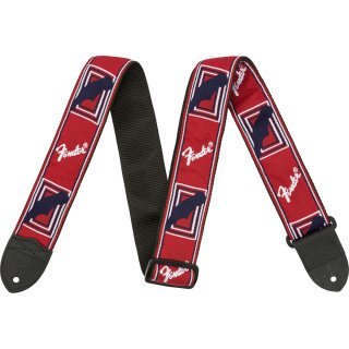 "Fender (フェンダー) ストラップ 2"" MONOGRAMMED STRAPS カラー:Red, White and Blue"