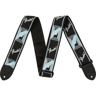 "Fender (フェンダー) ストラップ 2"" MONOGRAMMED STRAPS カラー:Black/Light Grey/Blue"