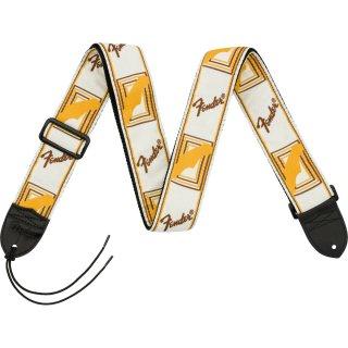 "Fender (フェンダー) ストラップ 2"" MONOGRAMMED STRAPS カラー:White/Brown/Yellow"