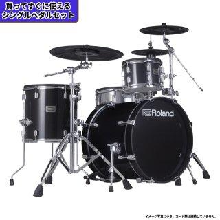 Roland (ローランド) 電子ドラム VADシリーズ (1タム1フロア構成 シンプルキット) VAD-503+【シングルペダルセット】