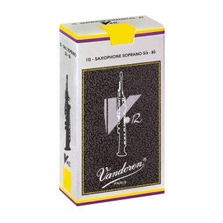 Vandoren(バンドレン) ソプラノサクソフォン用リード V.12(10枚入)【強度をお選びください】