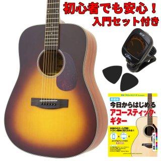 【入門セット付き】ARIA(アリア)アコースティックギター Aria-111-MTTS 【ソフトケース付属】
