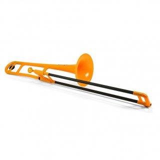 pInstruments (ピーインストゥルメンツ) プラスチック製  B♭テナートロンボーン pBone (オレンジ) 【布製キャリーバッグ付き】