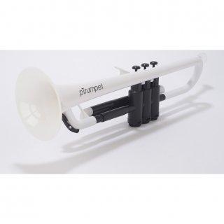 pInstruments (ピーインストゥルメンツ) プラスチック製 B♭トランペット pTrumpet (ホワイト) 【布製キャリーバッグ付き】