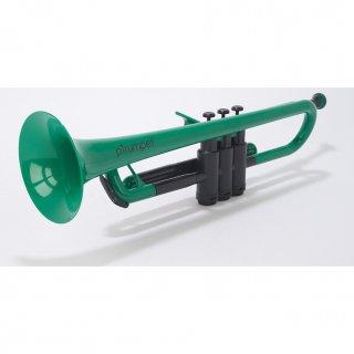 pInstruments (ピーインストゥルメンツ) プラスチック製 B♭トランペット pTrumpet (グリーン) 【布製キャリーバッグ付き】