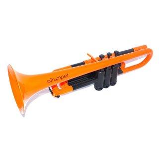 pInstruments (ピーインストゥルメンツ) プラスチック製 B♭トランペット pTrumpet (オレンジ) 【布製キャリーバッグ付き】