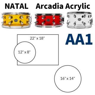 NATAL (ナタール) Arcadia Acrylicシリーズ ドラムキット AA1