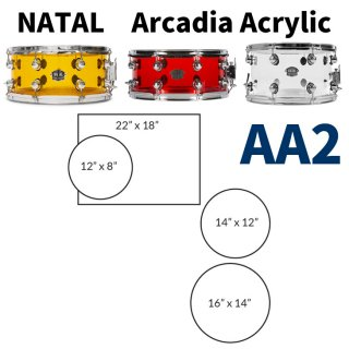 NATAL (ナタール) Arcadia Acrylicシリーズ ドラムキット AA2