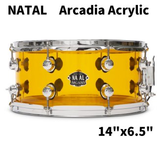 NATAL (ナタール) Arcadia Acrylicシリーズ スネアドラム 14