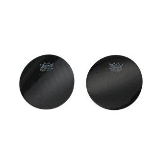 REMO (レモ) バスドラム インパクトパッド テクノーラ素材(ブラック)【シングルペダル用/2枚入り】KS-0004-PH<br>【追跡可能メール便 送料無料】