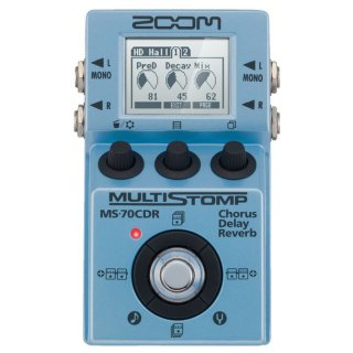 ZOOM (ズーム) MultiStomp ギター用マルチエフェクター(空間系エフェクトChorus / Delay / Reverb Pedal)MS-70CDR
