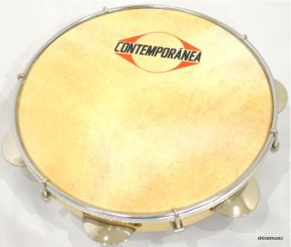 CONTEMPORANEA(コンテンポラネア) 山羊皮パンデイロ 胴が浅い軽量タイプ! CO-PDMV105CR