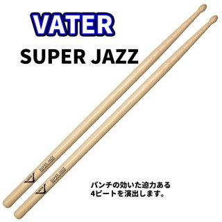 VATER  (ベーター) ヒッコリースティック SuperJazz 14.1mm x 413mm  (1ペア) VHSJW