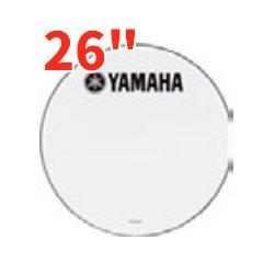 YAMAHA REMO (ヤマハ レモ)バスドラムヘッド (マーチング用) UTパワーストローク3スムースホワイト 26インチ UT-MBP3SW26