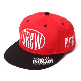 <img class='new_mark_img1' src='//img.shop-pro.jp/img/new/icons35.gif' style='border:none;display:inline;margin:0px;padding:0px;width:auto;' />【RUDIE'S】 CREW SNAPBACK CAP (RED) ※会員価格あり!