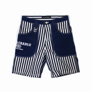 <img class='new_mark_img1' src='https://img.shop-pro.jp/img/new/icons35.gif' style='border:none;display:inline;margin:0px;padding:0px;width:auto;' />【ROLLING CRADLE】 BIG POCKET STRIPE SHORTS (BIG-STRIPE) ※会員価格あり!