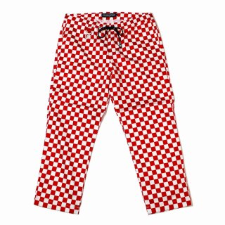 【ROLLING CRADLE】RC CHECKER WIDE PANTS (RED)