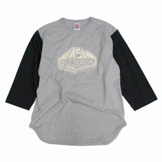 【undiscovered】BASIN MOSH BASEBALL 3/4 SLEEVE TEE (H.GRAY/SUMIKURO)