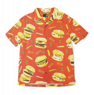 【MxMxM】MAGICAL BURGER ALOHA SHIRT (RED)