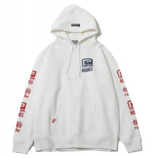 【RUDIE'S x reversal】HOOD SWEAT (WHITE)