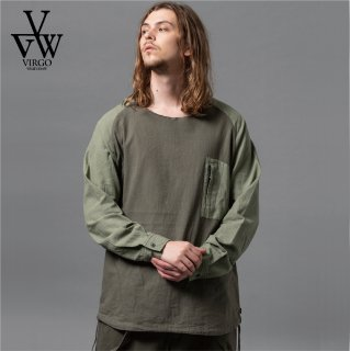 <img class='new_mark_img1' src='https://img.shop-pro.jp/img/new/icons35.gif' style='border:none;display:inline;margin:0px;padding:0px;width:auto;' />【VIRGO】 VIRTALY CHANGE SHIRTS (KHAKI)