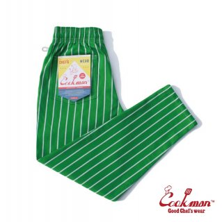 【COOKMAN】 Chef Pants 「Stripe」 LIGHT GREEN