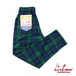 【COOKMAN】 Chef Pants 「Black Watch Check」