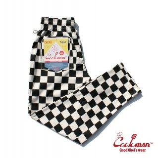 【COOKMAN】 Chef Pants 「Checker」 Black