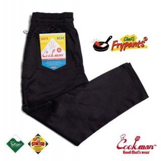 【COOKMAN】 Chef's Frypants 「Black」