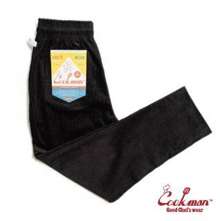 【COOKMAN】 Chef Pants 「Corduroy」 Black