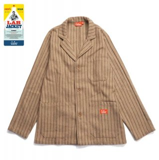 【COOKMAN】 Lab.Jacket 「Wool mix Stripe」 Beige