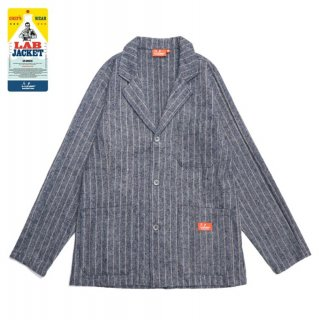 【COOKMAN】 Lab.Jacket 「Wool mix Stripe」 Light Gray