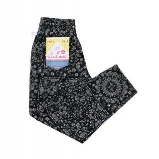 【COOKMAN】 Chef Pants 「Paisley」 Black