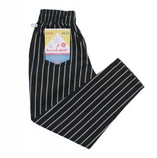 【COOKMAN】 Chef Pants 「Stripe」 Black