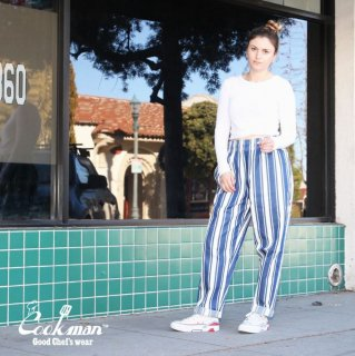 【COOKMAN】 Chef Pants Awning Stripe Navy