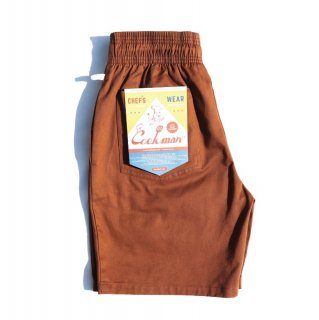 【COOKMAN】 Chef Pants Short Chocolate