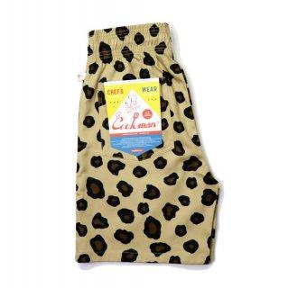 【COOKMAN】 Chef Pants Short Big Leopard