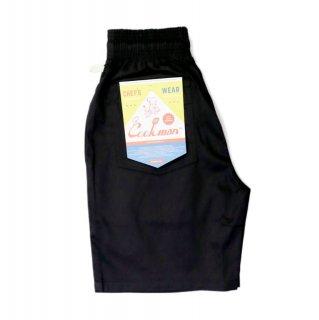 【COOKMAN】 Chef Pants Short Black