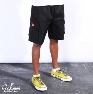 <img class='new_mark_img1' src='https://img.shop-pro.jp/img/new/icons1.gif' style='border:none;display:inline;margin:0px;padding:0px;width:auto;' />【COOKMAN】 Chef Pants Short Cargo Black