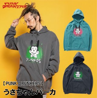 <img class='new_mark_img1' src='https://img.shop-pro.jp/img/new/icons1.gif' style='border:none;display:inline;margin:0px;padding:0px;width:auto;' />【PUNK DRUNKERS】 うさちゃんパーカ