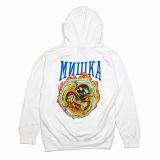 <img class='new_mark_img1' src='https://img.shop-pro.jp/img/new/icons35.gif' style='border:none;display:inline;margin:0px;padding:0px;width:auto;' />【MISHKA】FAST BALL KEEP WATCH HOODIE(WHITE) ※会員価格あり!