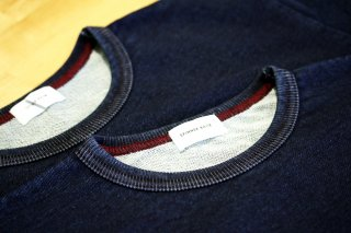 "Spinner Bait / Short Sleeves Pocket Tee Inside Mini Fur ""INDIGO"""