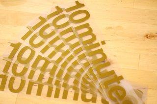 10minutes / Original Logo Sticker Gold