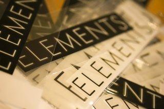 Elements Sticker / エレメンツステッカー